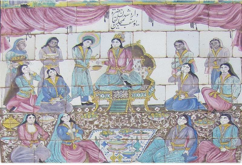 image of potiphar's wife party with joseph