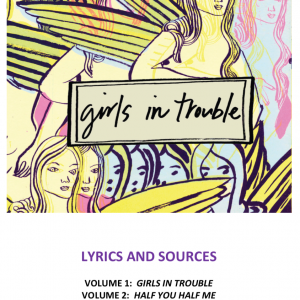 Cover image with Girls in Trouble Logo and winged female creatures